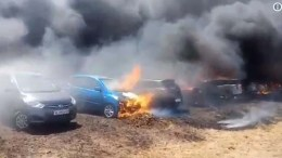 300 cars gutted in fire near Bengaluru air show
