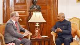Prince Albert II of Monaco calls on the President Shri Ram Nath Kovind