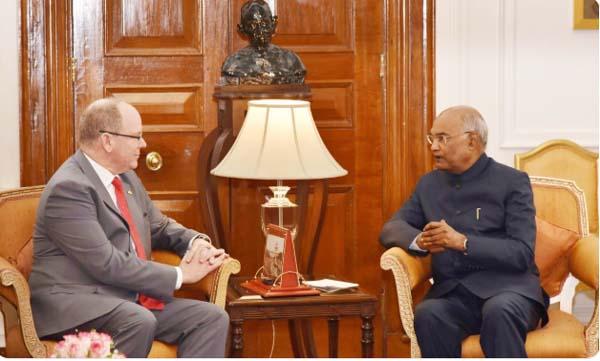 Prince Albert II of Monaco calls on the President Shri Ram Nath Kovind
