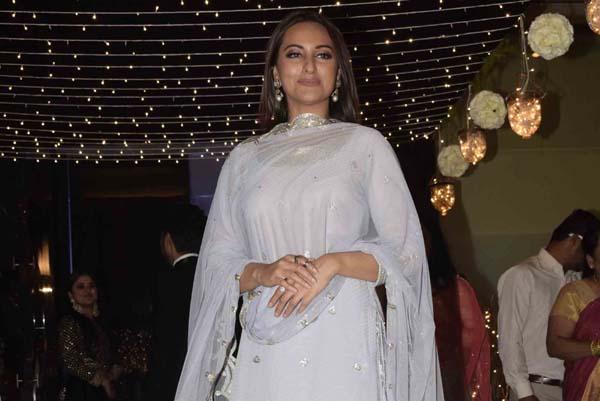 Mumbai: Actress Sonakshi Sinha at her friend's wedding reception in Mumbai, on Feb 16, 2019. (Photo: IANS)