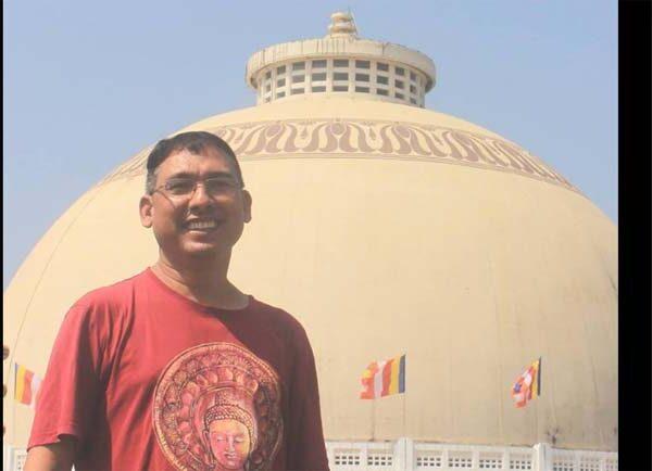 Vidya Bhushan Rawat at deekshabhoomi