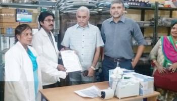 Nizams grandchildren donate Medical Devices & Surgical items to Nizamia
