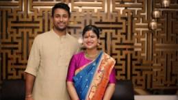cricketer Pragyan Ojha and his wife