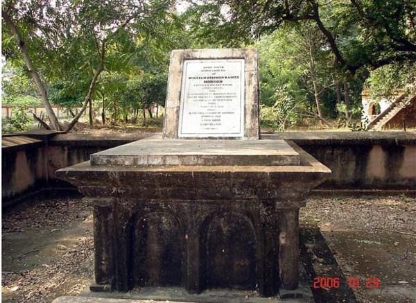 picture of blot William Hodson's grave