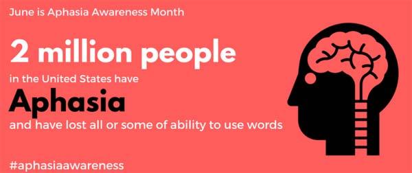 Aphasia Awareness Month - June 2020
