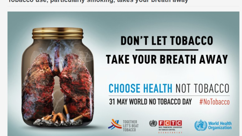 Tobacco use, particularly smoking, takes your breath away