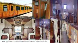 Newly upgraded Tejas type sleeper coaches introduced in Mumbai Rajdhani Express train