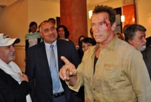 Arnold Schwarzenegger making of Os Mercenários 2 (The Expendables 2)