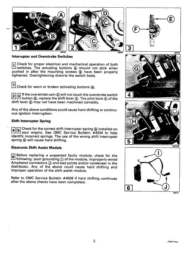1985 Mercruiser 260 Shift Interrupter Switch Wiring