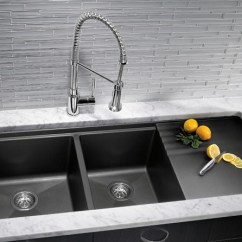 Kitchen Sink Materials Island In The Sinks Pros Cons Of Different Hatchett Design Granite Composite Material Remodel