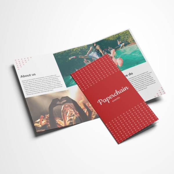 Plan Fold Folded Leaflet Template Event Planners