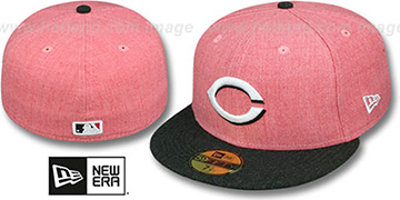 Reds 2T-HEATHER ACTION Red-Charcoal Fitted Hat by New Era