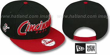 Reds SNAP-IT-BACK SNAPBACK Black-Red Hat by New Era
