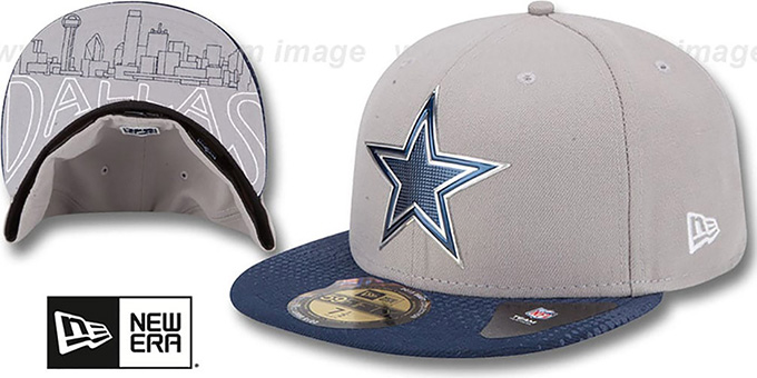 Cowboys 2015 NFL DRAFT GreyNavy Fitted Hat by New Era