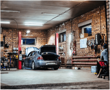 wheel alignment at garage