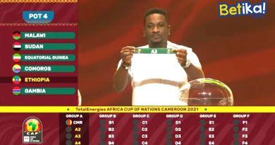 Le tirage au sort de la CAN TotalEnergies Cameroun 2021: Eethiopie avec l'équipe hôte dans le Groupe A