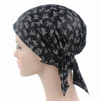 Black and Grey Pattern Ready Made Elasticated Cancer Chemo