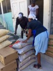 Delivery of food to be distributed to community