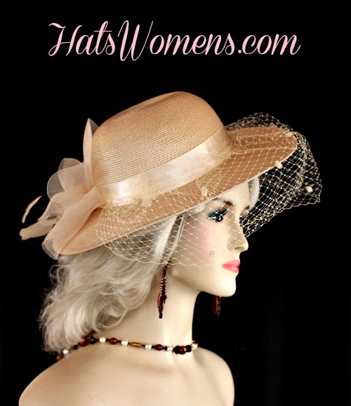 cc2379980 Tan Hats For Women, Beige Dress Hats, Hats With Veils, Camel Coffee Taupe