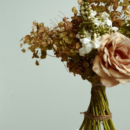 Nude and Gold Toned Bouquet   That Flower Shop