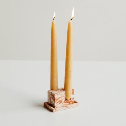 Rekha Maker Terracotta-Inspired Candlestick Holder