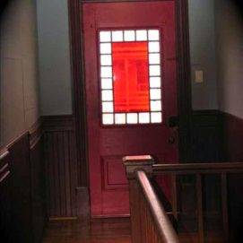 Aww the RED DOOR! It opens to the world and our Balcony in the front of Hattie's Place, Too!