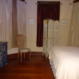 V&J Comfy Bedroom with Goose Down topper!