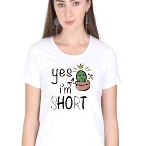 Yes I am Short - White - Female - HattsOff
