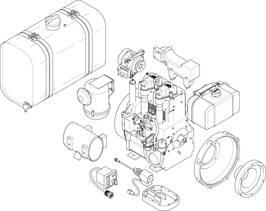G-Series, 2-cylinder engine, industrial diesel engine