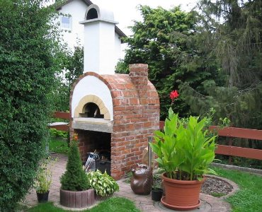 Steinbackofen Pizzaofen Kuppelofen Für Restaurant Oder Garten