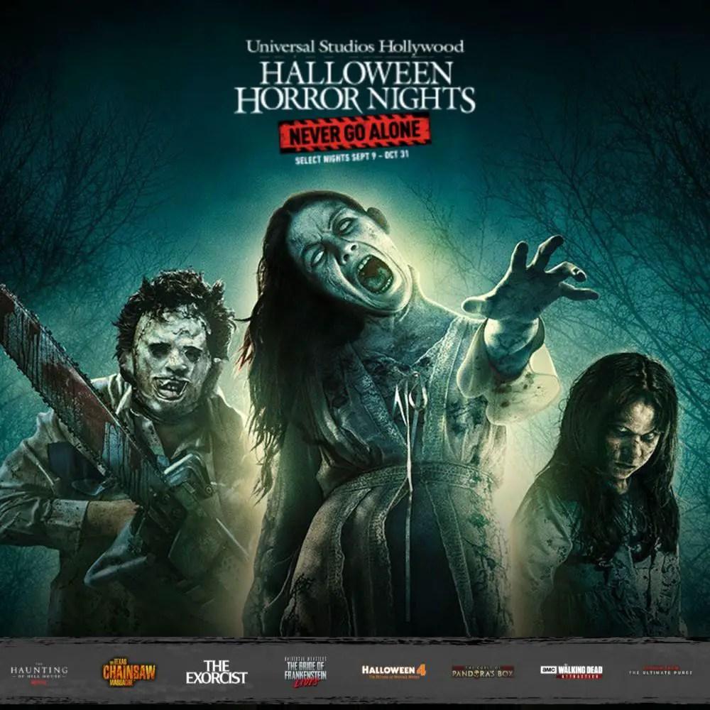 Universal Studios Hollywood - Halloween Horror Nights 2021 Never Go Alone - Theme Park - Hollywood CA