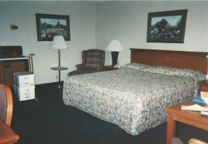 """My accomodations at the Shiloh Inn courtesy of S&W"""