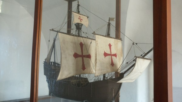 Model of the type of ship that once sailed San Juan's waters.