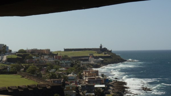View of El Morro from the guard tower at San Cristobal used during WWII