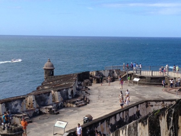 Looking down on El Morro's Lower Plaza