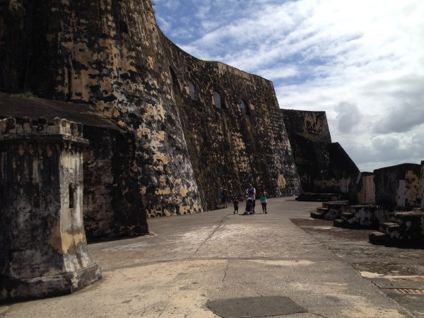 It's easy to see from these high walls rising about the Lower Plaza why this fort was such an effective fortification.