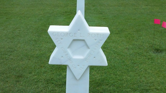 Jewish grave in Normandy American Cemetery.