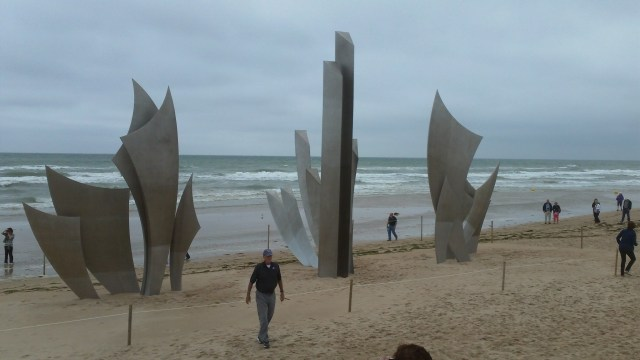 Omaha Beach Memorial Sculpture in the Sand