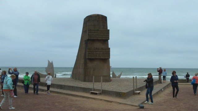 Omaha Beach Memorial with Sculpture