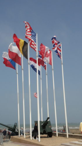 Flags at Arrowmanche