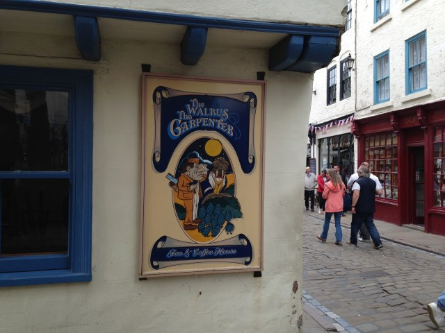The Walrus and Carpenter Tea Room in the old Market Square, named after Lewis Carroll's protagonists in his poem of the same name - Photo: Paul Fitz-George