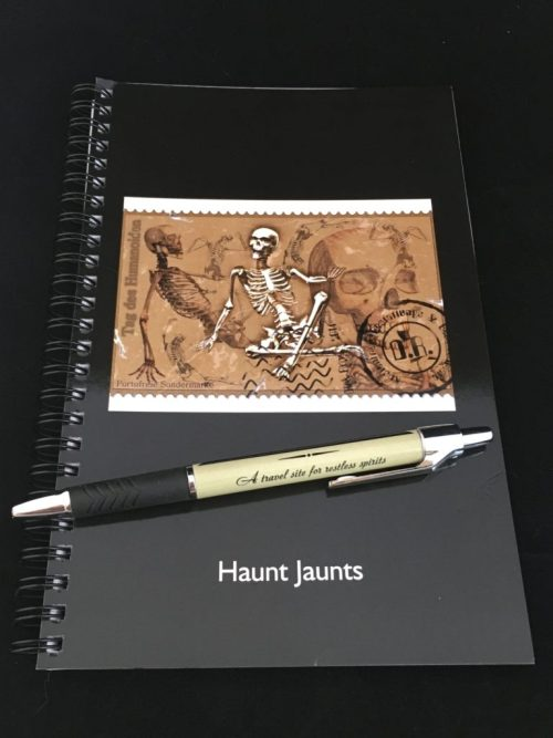HJ notebook and pen