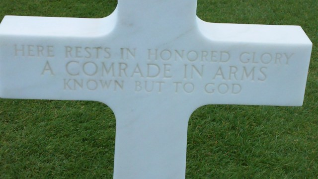 Cross unknown soldier Normandy