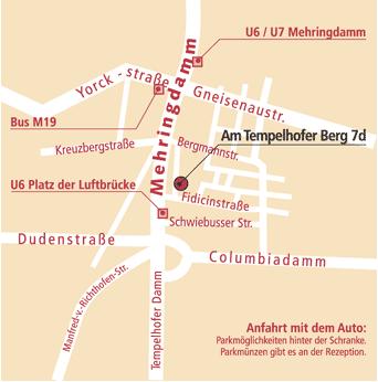 Bild zeigt Straßen in Berlin Kreuzberg, bzw. Tempelhof, zwischen Bergmannstraße und Platz der Luftbrücke. Hauptstadt Reiki Berlin