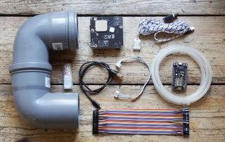 Bausatz für ein Meßgerät zum messen von Feinstaub mit integriertem Feinstaubsensor