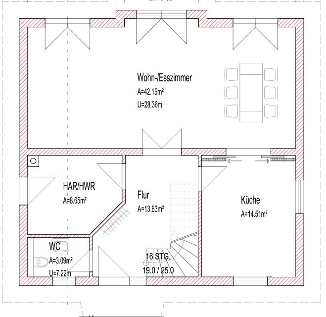 Grundriss fr Einfamilienhaus  moderner Hausbau ohne Keller  Hausbau Blog