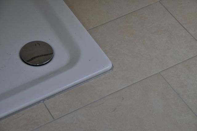 Planung Gestaltung und Fotos der neuen Dusche beim