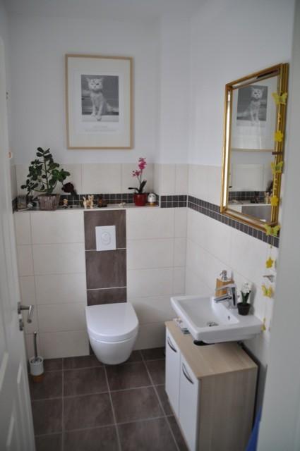 Helle dunkle und MosaikFliesen fr die GsteToilette  Hausbau Blog
