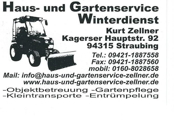 Haus und Gartenservice Kurt Zellner  Straubing  Impressum  Anschrift  Kontakt