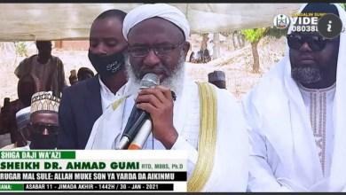 Photo of Bidiyo : Rugar Malam Sule: Yardar Allah Muke Nema A Wannan Aiki – Dr Ahmad Gumi